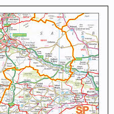 somerset map postcode sector map s2 dorset somerset wall map