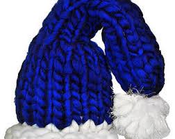blue santa hat blue santa etsy