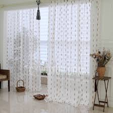 White Polka Dot Sheer Curtains Coffee Color Polka Dot Pattern White Linen Sheer Curtain