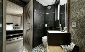 natural stone bathroom accessories brown mosaic ceramic floor tile