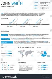 Resume Vector Infographic Resume Vector Stock Vector 106376930 Shutterstock