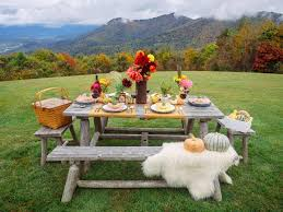 outdoor table ideas rustic fall table setting ideas for outdoor celebrations hgtv