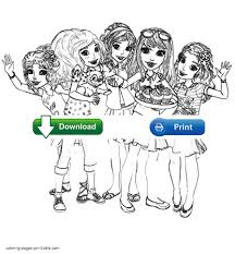coloring pages for girls lego friends