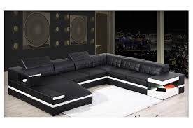 canape angle noir et blanc canapé d angle panoramique avec méridienne en cuir italien