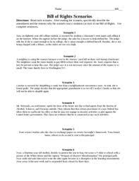 bill of rights scenarios bill of rights constitutional rights