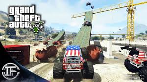 video de monster truck gta v online locuras con monster truck carreras épicas funny