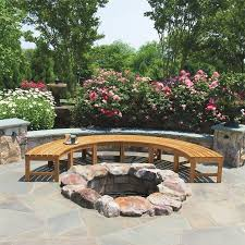Curved Teak Garden Bench Teak Benches Circa Curved Backless Bench Country Casual