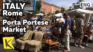 auto porta portese k italy travel rome 이탈리아 여행 로마 포르타 포르테세 벼룩시장