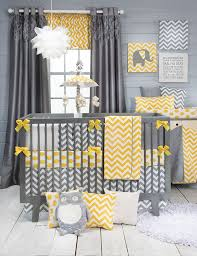 Crib Bedding Sets Unisex 51 Best Baby Bedding Yellow Gray Images On Pinterest Baby