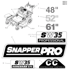 snapper pro 5901448 sw35bve2861 49 state 61
