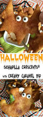 halloween sopapilla crescents with creamy caramel dip recipe