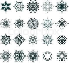 20 ramadan kareem geometric ornamental signs vector set of arabic