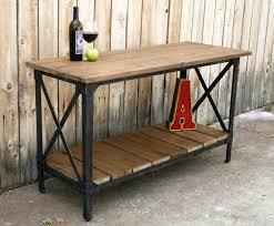 wood and iron sofa table reclaimed wood console table ideas home decor furniture