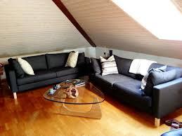 Karlstad Loveseat And Chaise Lounge Karlstad Sofa Cover Korndal Dark Grey Sofa Hpricot Com
