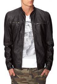 biker jacket men forever 21 faux leather biker jacket in black for men lyst