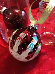 kids hand print snowman bulb decor gift for christmas craft