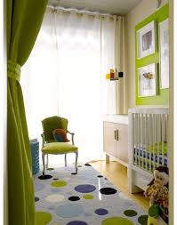 Light Green Curtains Decor Eclectic Green Blue Boy S Nursery Design With Apple Green