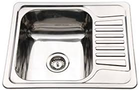 Compact Stainless Steel Inset Kitchen Sink Bowl With Drainer - Compact kitchen sinks stainless steel