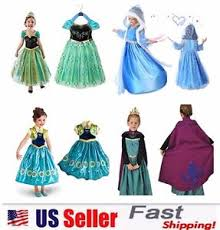 frozen costume princess elsa frozen dressup costume dress gown toddler
