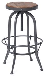 iron bar stools iron counter stools outstanding jordan industrial loft wood and iron backless swivel bar