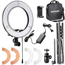 neewer led ring light neewer ring light 14 inch led with light stand 36w 5500k lighting