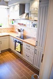backsplashes for small kitchens tiny kitchen renovation with faux painted brick backsplash wood
