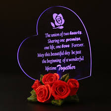 giftgarden heart shaped with roses decor mothers day gifts led