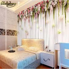 papier peint romantique chambre beibehang photo mural papier peint romantique fleurs suspendus
