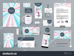 professional branding design kit beauty salon stock vector
