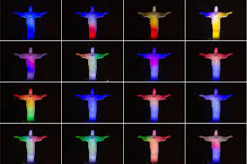 Flags Of All Nations Christ The Redeemer Glows With National Colors For World Cup Nbc