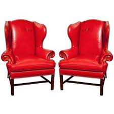 Winged Chairs Design Ideas Chair Design Ideas Tempting Red Leather Wingback Chair Red