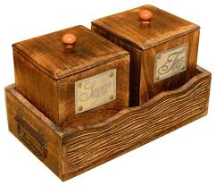wooden canisters kitchen wooden tea coffee sugar canisters the coffee table