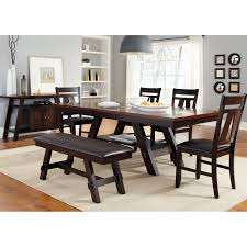 Dining Room Sets On Sale Dining Room Parson Dining Chairs With Dark Wood Trestle Dining