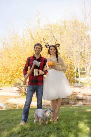 best couples halloween costumes woodland deer and lumberjack couples costume the sugared lemon