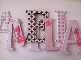 Decorating Wooden Letters For Nursery Articles With Ideas For Decorating Wooden Letters For Nursery Tag