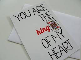 cards for him valentines day card for him card king of hearts