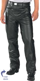 leather motorcycle pants casual biker motorcycle leather pants