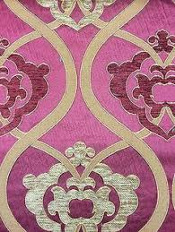 Upholstery Drapery Fabric Red Burnout Damask Upholstery Drapery Fabric Sold By The Yard
