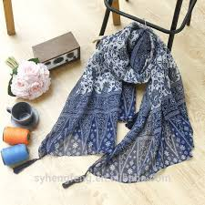 wholesale shaoxing custom printed polyester scarves summer