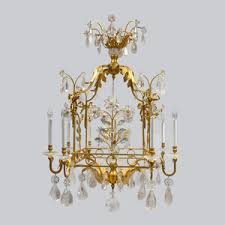 Rock Crystal Chandeliers Fine 19th Century Lighting Gilt Bronze U0026 Crystal Chandeliers