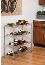 chrome free standing wine racks u0026 bottle holders ebay
