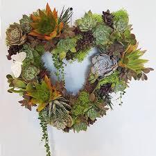 heart wreath make a succulent s heart wreath social planner