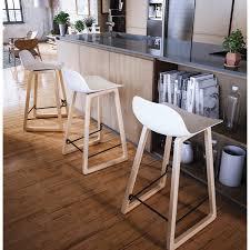 tabouret chaise de bar de bar chaise de bar mi hauteur scandinave mini blanc