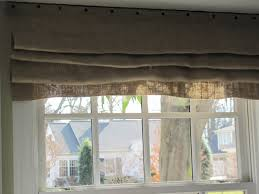 Kitchen Window Treatments Roman Shades - tips classic burlap roman shades for interior windows decor ideas