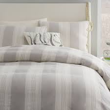 coastal stripe duvet cover frost gray west elm