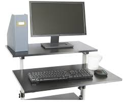Height Of Computer Desk Vivo Mobile Height Adjustable Stand Up Desk Computer Work Station