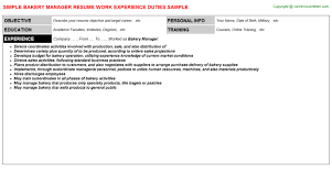 Sample Nursing Student Resume Clinical Experience by Bakery Manager Cover Letter