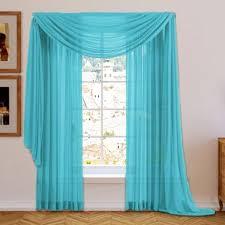 Blue Green Sheer Curtains Royal Blue Sheer Curtains Wayfair