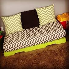 How To Make A Crib Mattress I Made This For The Boys Playroom Get A Pallet And Paint It