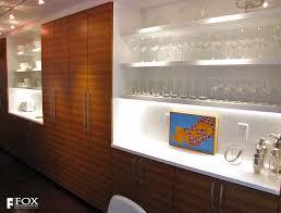 Long Wall Of Zebrawood Kitchen Cabinets Fox Woodworking - Long kitchen cabinets